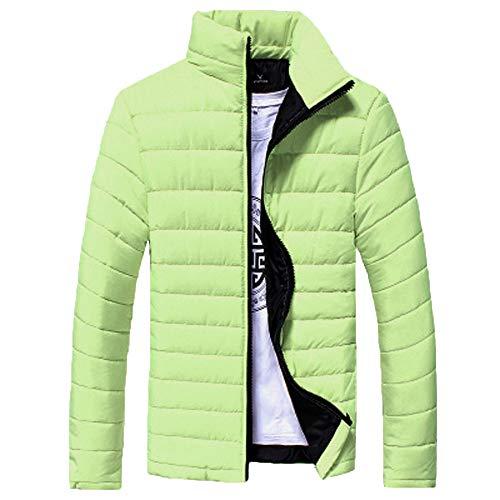 Skxinn Classics Daunenjacke für Herren, Männer Leichte Daunenjacke Winterjacke Ultraleichte Isolierte Winter Oberbekleidung Outwear Jacket(Hellgrün,Medium)