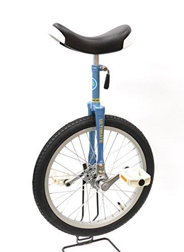 """どのスポーツのトレーニングにも一輪車は最適。 バランス感覚・体幹を鍛えられます!MYSオリジナルモデル""""Stay On Top""""【MYS18BL】コズミックブルー 18インチ 日本一輪車協会認定 ベルマーク参加商品 一輪車 ユニサイクル"""