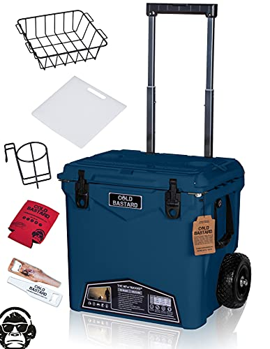 45QTW Cold Bastard Rugged+ Navy Storm Large Wheels Best Premium Ice Chest Cooler Accessories Free S&H