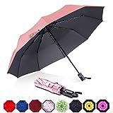ABCCANOPY Umbrella Compact Rain&Wind Teflon Repellent Umbrellas Sun Protection with Black...