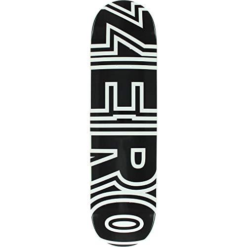 Zero Skateboard Deck Bold Black/White 8.5