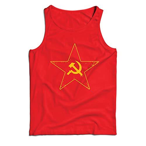 lepni.me Camisetas de Tirantes para Hombre URSS СССР La Hoz y el Martillo, símbolo del proletariado socialista