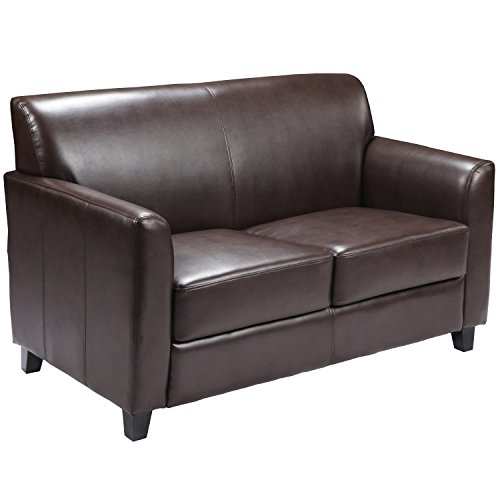 Flash Furniture Brown Leather Loveseat