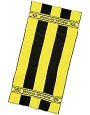 Borussia Dortmund Toalla con rayas de bloque, Unisex, Negro/Amarillo, 74x140