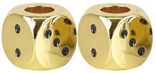 yaoviz® 2X Glutkiller 20mm für Aschenbecher Würfel Metall Gold schwere Qualität offen Gluttöter Glutlöscher