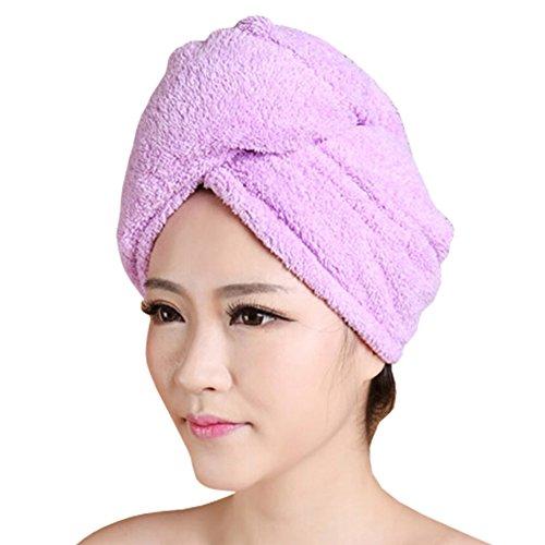 Doux séchage des cheveux PAC forte absorption d'eau-Cap Bath showercap Pourpre