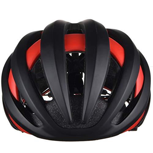 HVW Casco de Bicicleta de Bicicleta, Casco de Montar a Caballo Inteligente con Auriculares Bluetooth Luz de LED 7 Horas Reproducción Ciclismo Casco Casco para Hombre Mujeres Adultos,C