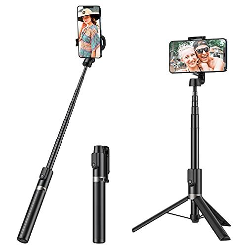 Yoozon Selfie Stick,1.2m Max.lang,3 in 1 Selfie Stick Stativ,Tragbar Selfie Stick mit Fernbedingung,Selfie Stick Tripod,als Stativ für Fast alle handys iPhone 12 11 iPhone/Samsung/Huawei