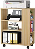 MCE Impresora para el hogar Soporte de la Impresora de pie Soporte de fax de 3 Capas de 3 Capas Soporte para la Impresora móvil Estante en la Sala de Estar (Color : Beige)