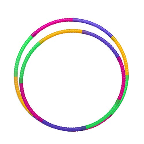 NAttnJf Anillo de fitness extraíble de plástico colorido, 50/60 cm, para niños, fitness, gimnasia, herramienta de deporte, varios colores