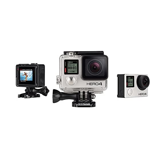 GoPro Hero 4 Silver Edition 12MP Waterproof Sports & Action Camera Bundle with 2 Batteries 2 Built-in touch display for easy camera control, shot-framing and playback,Protune with SuperView delivers cinema-quality capture and advanced manual control for photos and video with the world's most immersive wide-angle field of view Professional 1080p60 and 720p120 video with 12MP photos at up to 30 frames per second. Video Supported: 4K15 / 2.7K30 / 1440p48 / 1080p60 / 960p100 / 720p120 fps Built-in Wi-Fi and Bluetooth support the GoPro App, Smart Remote and more