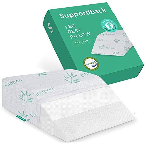 Supportiback® therapeutisches Beinkissen – mit Memory-Schaum, waschbarem Bezug, entworfen von Ärzten für Rücken-, Hüft- und Beinschmerzen, Ödeme sowie zur besseren Durchblutung