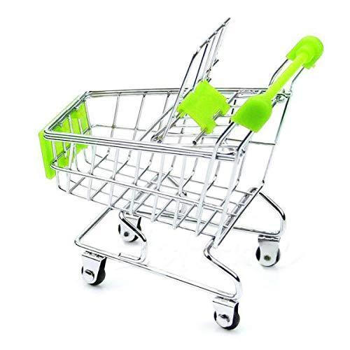 Mini Supermercado Handcart Toy Shopping Utility Cart modo cesta de almacenamiento modelo decoración de escritorio niño niña regalo