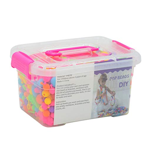 JIEHED Snap Pops Beads - Juego de cuentas para niñas, para hacer joyas, para niños pequeños, para hacer diademas, collares, pulseras, anillos y manualidades y juguetes creativos para niñas y niños