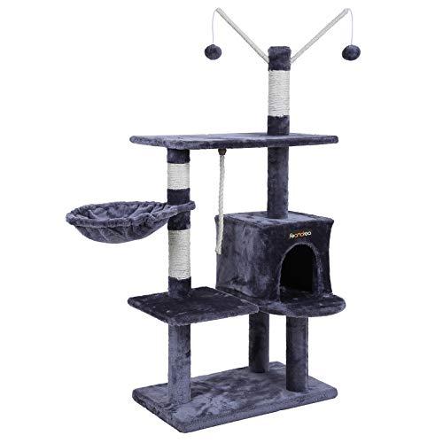 SONGMICS Árbol para Gatos Rascador con nidos Plataformas Bolas de Juego Gran Base 134 cm PCT35G