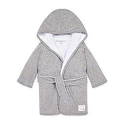 gray baby robe