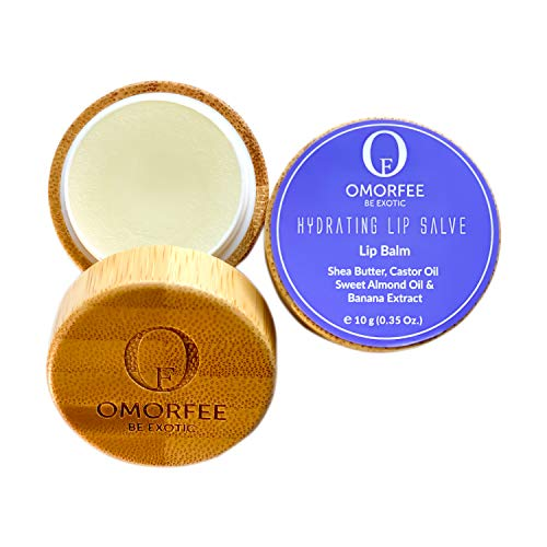 Omorfee 100% Organic Hydrating Lip Balm for Dry Cracked Chapped Lips Repair & Treatment- 10 g/0.35 Oz