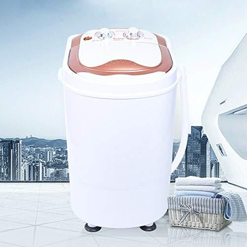 Savada Waschmaschine, 2 in 1 6 kg Mini Wäscheschleuder Waschautomat mit Schleuder Campingwaschmaschine 240W