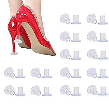 30 Pairs Clear High Heel Protectors for Shoes Stoppers for Walking on Grass Small/Middle/Large