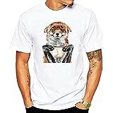 Camisa Hombre Verano Tendencia Moda Cuello Redondo Animal Impresión Hombre Camiseta Moderno Regular Fit Manga Corta Wicking Transpirable Urbano Hombre Casuales Camisas C-DW3 S