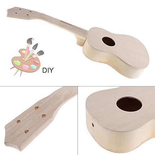 21 Zoll Einfach und Spaß DIY Ukulele DIY Installationssatz-Werkzeug Hawaii-Gitarre Handarbeit Unterstützung Malerei Kinder & # 39s Toy Assembly for Amateur (Color : Round)