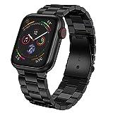 LeekaoWee kompatibel mit Apple Watch Armband 42mm 44mm, Metall Uhrenarmband Edelstahl Ersatzarmband...