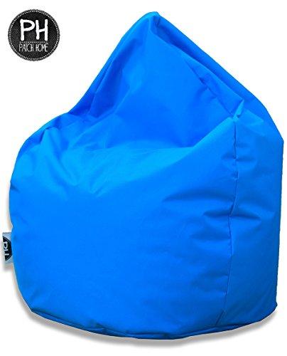 Patchhome Sitzsack Tropfenform - Königsblau für In & Outdoor XL 300 Liter - mit Styropor Füllung in 25 versch. Farben und 3 Größen