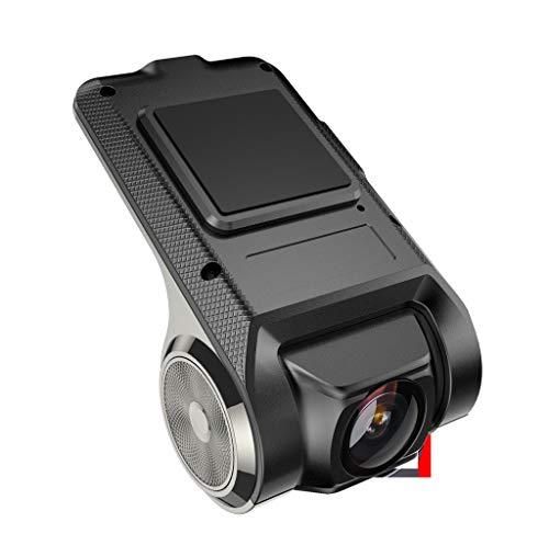 LQQSTORE CáMara del Coche, HD X28 Dash CAM 1080P FHD Grabador De CáMara DVR para Coche WiFi ADAS G-Sensor, Registrador De Conducción Oculta USB Alarma Electrónica DVR (Negro)
