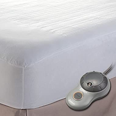 Sunbeam Polyester Heated Mattress Pad with EasySet Pro Controllers, Queen