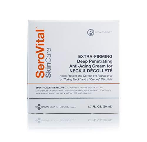 SeroVital SkinCare Extra-Firming Deep Penetrating Anti-Aging Cream for Neck & Décolleté. 1.7 Fluid Ounces