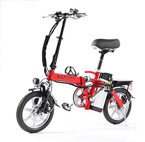 TX Mini Bicicletta elettrica Pieghevole Piccolo motorino Lega di Alluminio con contatore Intelligente, Telefono Ricaricabile, 60-80 km, 4 Assorbimento degli Urti