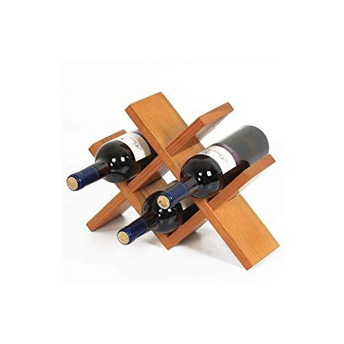NXYJD Madera Vino Rack Intriom Vino del Estante del sostenedor del Vino de Almacenamiento Estante de la Botella Horizontal Almacenamiento Compacto Diseño Hecho de Organic Collection