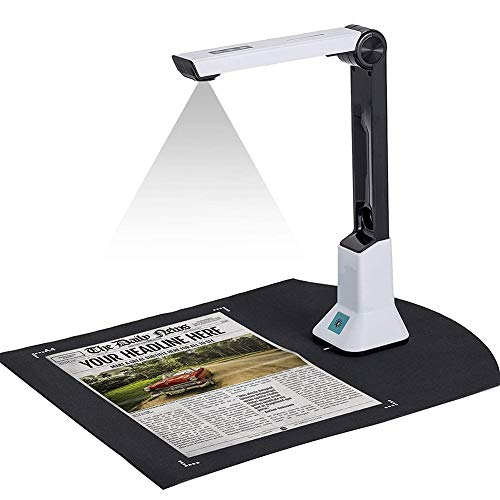 WEP Cámara De Documentos Escáner De Alta Definición Portátil USB con Grabación De Video De Proyección En Tiempo Real Versatilidad Formato A4 para La Enseñanza A Distancia En Línea