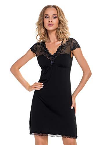 Selente Sweet Dreams verleidelijk nachthemd/negliggee (Made in EU) met delicate topdetails en extra exclusieve satijnen oogstrip