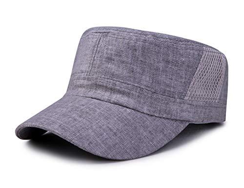 [Lovechic] ワークキャップ 麻 メッシュ 帽子 メンズ 夏用 綿麻 薄い サイズ調節可能 (56-60cm)(ライトグ...