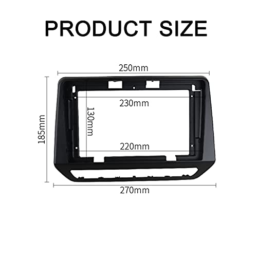 XIAOJIA Radio Fascia 9 Inch Fit for Renault TRIBER 2019 Dash Installation Trim Mount Kit Frame Stereo GPS DVD Player Panel Faceplates Cover