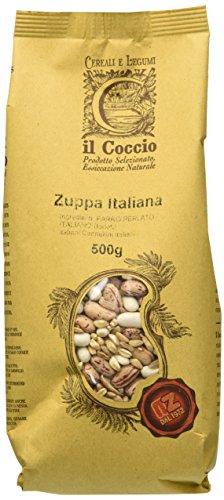 Il Coccio Zuppa Italiana - Mix di Legumi e Cereali per Zuppe - Pacco da 10 x 500 gr - Totale: 5000...