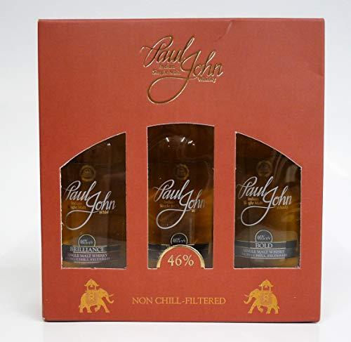 Paul John Indian Single Malt Whisky Mini-Set 3x 0,05l
