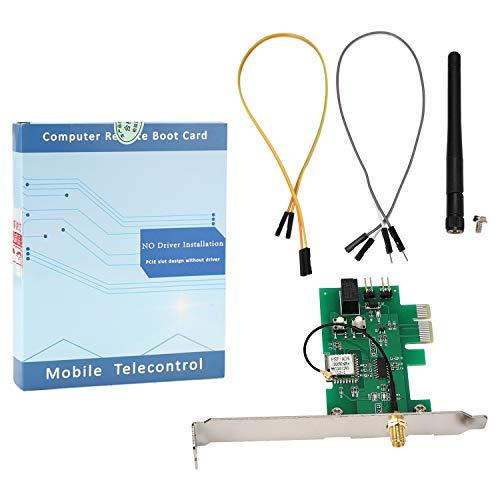 Tiamu EWeLink PCI-E Desktop PC Scheda Interruttore di Controllo Remoto WiFi Smart Switch Modulo Relè per Smart Home (con Antenna)