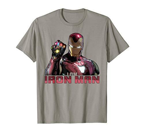 Marvel Avengers Endgame I Am Iron Man Movie Quote Portrait T-Shirt