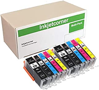Inkjetcorner Compatible Ink Cartridges Replacement for PGI-270XL CLI-271XL for use with MG5700 MG6800 TS5020 TS6020 TS6000 (2 Black, 2 Photo Black, 2 Cyan, 2 Magenta, 2 Yellow, 10-Pack)