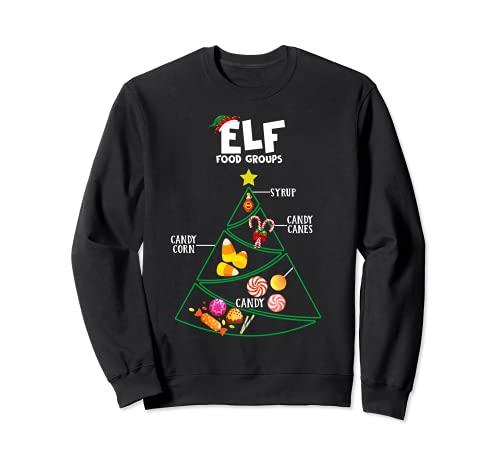 ELF Food Groups - Camiseta de caña de caramelo, maíz caramelo, jarabe Sudadera