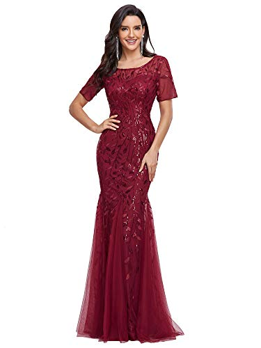 Women's Mermaid Dresses Evening Dress Long Party Prom Gown Burgundy US8