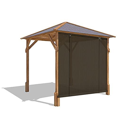 XJJUN Persianas De Sombra, 90% De Resistencia A Los Rayos UV, Resistencia Al Desgarro, Refrigeración Exterior, Persiana Enrollable, para Pérgola De Jardín Y Patio (Color : Brown, Size : 0.75x2m)
