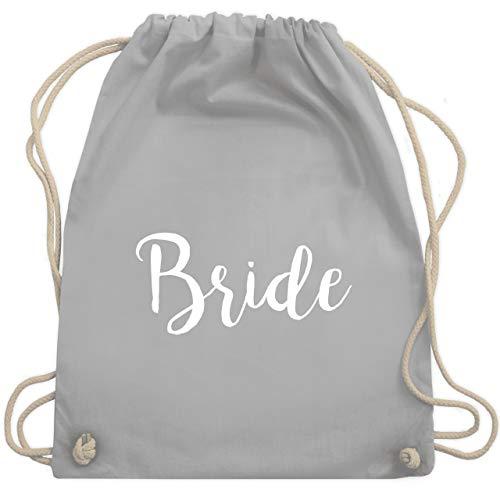 Shirtracer JGA Junggesellenabschied Frauen - Bride Lettering - Unisize - Hellgrau - bride turnbeutel - WM110 - Turnbeutel und Stoffbeutel aus Baumwolle