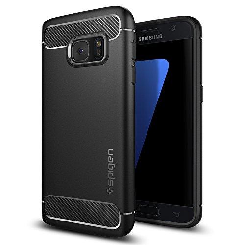 Spigen Rugged Armor Hülle Kompatibel mit Samsung Galaxy S7 -Schwarz