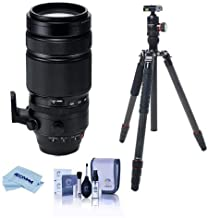 $1998 » Fujifilm XF 100-400mm F4.5-5.6 R LM OIS WR Lens - Bundle with FotoPro X-Go Max Carbon Fiber Tripod with Built-in Monopod FPH-62Q Ball Head, Cleaning Kit, Microfiber Cloth