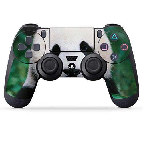 DeinDesign Skin kompatibel mit Sony Playstation 4 PS4 Controller Folie Sticker Panda Bär Bambus