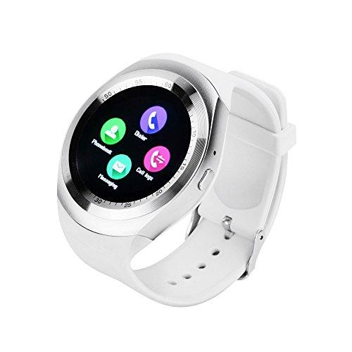 YUNTAB Orologio Bluetooth SmartWatch Y1 fitness tracker bluetooth smart watch dell'involucro del polso orologio cellulare con Touch Screen per iPhone Samsung HTC LG Android carta smartphone Phone SIM