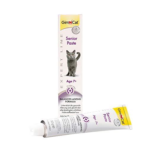 GimCat EXPERT LINE Senior, pasta - Fórmula que favorece el envejecimiento saludable - Pasta funcional para gatos a partir de los 7 años - 1 tubo (1 x 50 g)